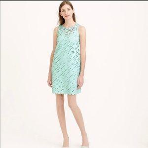 3/$25 J Crew Laser Cut Mint Shift Dress size 2